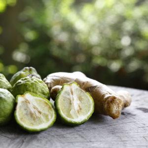 Ingredienzien Obst Und Gewürze Bergamotte Und Ingwer Shutterstock 446477641